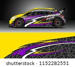 car decal design vector.... | Shutterstock .eps vector #1152282551