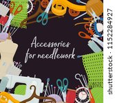 set of tools for needlework and ...   Shutterstock .eps vector #1152284927