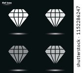 diamond flat grayscale vector...