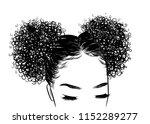 curly beauty girl illustration... | Shutterstock .eps vector #1152289277