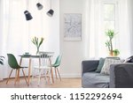 stylish and modern open space... | Shutterstock . vector #1152292694