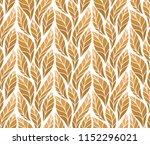 decorative golden leaves... | Shutterstock .eps vector #1152296021