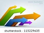 vector illustration of 3d... | Shutterstock .eps vector #115229635