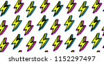 seamless pattern with lightning ... | Shutterstock .eps vector #1152297497