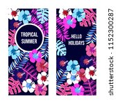 summer banners with tropical... | Shutterstock .eps vector #1152300287