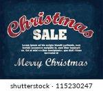 illustration of vintage poster... | Shutterstock .eps vector #115230247
