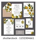 template for wedding invitation.... | Shutterstock .eps vector #1152304661
