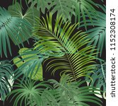 tropical plant seamless pattern ... | Shutterstock .eps vector #1152308174