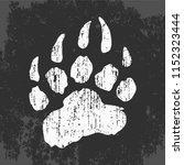 Imprint Of Bear Paw  Vector...