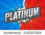 platinum games rank. poster... | Shutterstock .eps vector #1152327824