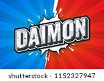 daimon games rank. poster comic ... | Shutterstock .eps vector #1152327947