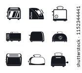 toaster kitchen bread gourmet...   Shutterstock .eps vector #1152344441