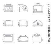 toaster kitchen bread gourmet... | Shutterstock .eps vector #1152344447