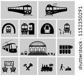 train station vector.train ... | Shutterstock .eps vector #1152350291