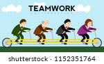 businessmen riding a bicycle.... | Shutterstock .eps vector #1152351764