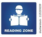 reading zone | Shutterstock .eps vector #115235359