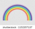 rainbow icon isolated on... | Shutterstock . vector #1152357137