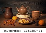 fresh products on a wooden... | Shutterstock . vector #1152357431