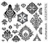 set of vintage baroque ornament ...   Shutterstock .eps vector #1152357521