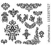 set of vintage baroque ornament ...   Shutterstock .eps vector #1152357527
