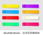 post note sticker set isolated... | Shutterstock . vector #1152358004