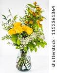 bunch of flowers bouquet in a... | Shutterstock . vector #1152361364