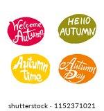 autumn. four bright... | Shutterstock .eps vector #1152371021