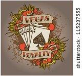 royal flush | Shutterstock .eps vector #115237555