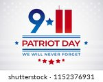 9 11 patriot day usa september... | Shutterstock .eps vector #1152376931