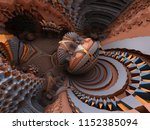 gray and orange escher style... | Shutterstock . vector #1152385094