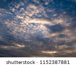 twilight sky background with...   Shutterstock . vector #1152387881