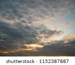 twilight sky background with...   Shutterstock . vector #1152387887
