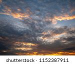 twilight sky background with...   Shutterstock . vector #1152387911
