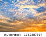 twilight sky background with...   Shutterstock . vector #1152387914