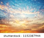twilight sky background with...   Shutterstock . vector #1152387944