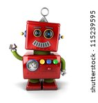 Little Vintage Toy Robot Wavin...