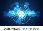 abstract technology digital... | Shutterstock .eps vector #1152411041