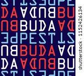 budapest  hungary seamless... | Shutterstock .eps vector #1152426134