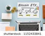 concept of bitcoin  etf ...   Shutterstock . vector #1152433841