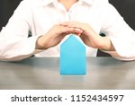 mortgage concept by house from... | Shutterstock . vector #1152434597