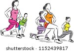 fitness people stretching... | Shutterstock .eps vector #1152439817