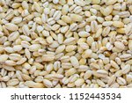 top view macro of barley grains.... | Shutterstock . vector #1152443534