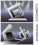 3d gate entrance simple for... | Shutterstock .eps vector #1152448271