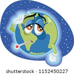 global warming earth concept... | Shutterstock .eps vector #1152450227