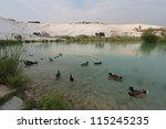 pamukkale   terraces of...   Shutterstock . vector #115245235