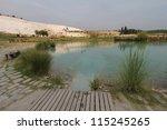 pamukkale   terraces of...   Shutterstock . vector #115245265