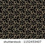 and golden geometric ornament...   Shutterstock . vector #1152453407