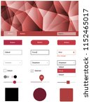 light pink  red vector ui ux...