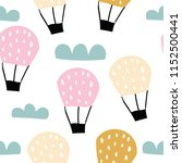 childish seamless pattern with... | Shutterstock .eps vector #1152500441