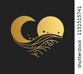sun  moon  sea waves....   Shutterstock .eps vector #1152515741